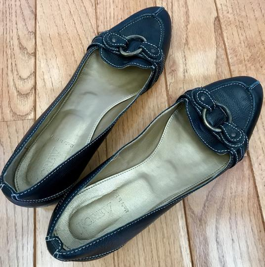 J.Crew Leather Size 11 Loafers Black Flats
