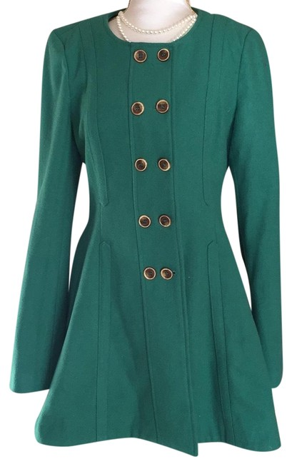 Preload https://img-static.tradesy.com/item/22703778/anthropologie-green-pea-coat-size-8-m-0-1-650-650.jpg