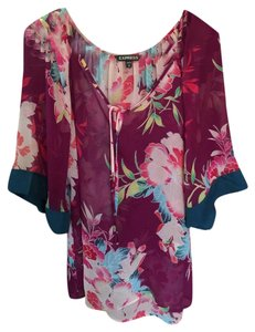Express Top Plum/multiple Colors
