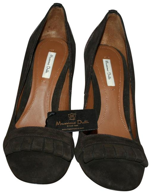 Massimo Dutti Brown Women's Suede Hell Platforms Size US 8 Regular (M, B) Massimo Dutti Brown Women's Suede Hell Platforms Size US 8 Regular (M, B) Image 1