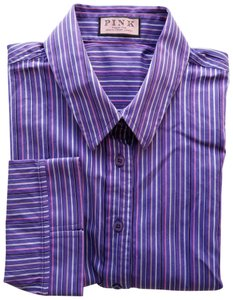 Thomas Pink Button Down Shirt Purple Multi - item med img