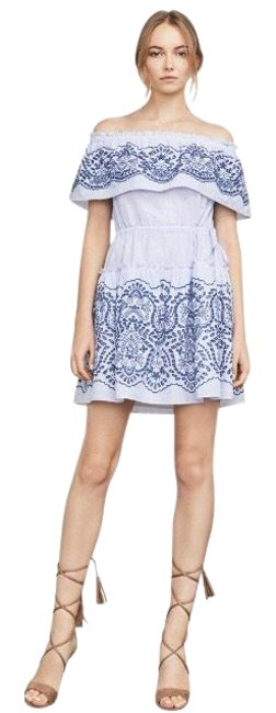 Preload https://img-static.tradesy.com/item/22703893/bcbgmaxazria-chambray-white-zoey-off-the-shoulder-short-night-out-dress-size-12-l-0-1-650-650.jpg