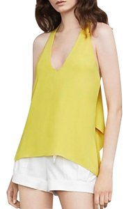 BCBGMAXAZRIA Top Dark Lime