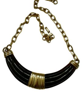 Morgan Taylor Brown and Gold Choker Necklace