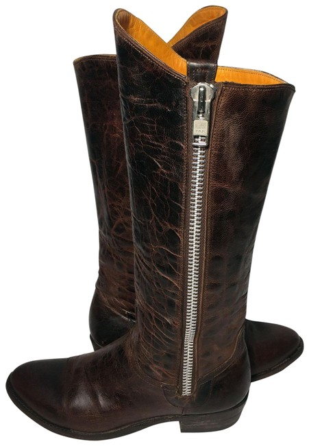 Old Gringo Brown Razz Leather Cowgirl Western Women's Boots/Booties Size US 6.5 Regular (M, B) Image 1