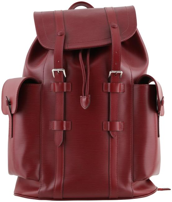 Louis Vuitton Christopher Pm Red Leather Backpack Louis Vuitton Christopher Pm Red Leather Backpack Image 1