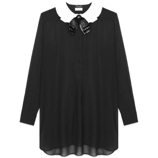 Preload https://img-static.tradesy.com/item/22704007/saint-laurent-black-sequin-bow-silk-georgette-shirtdress-mid-length-night-out-dress-size-8-m-0-5-650-650.jpg
