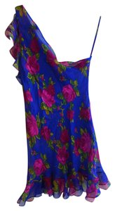 Other Floral One Top blue, pink, green