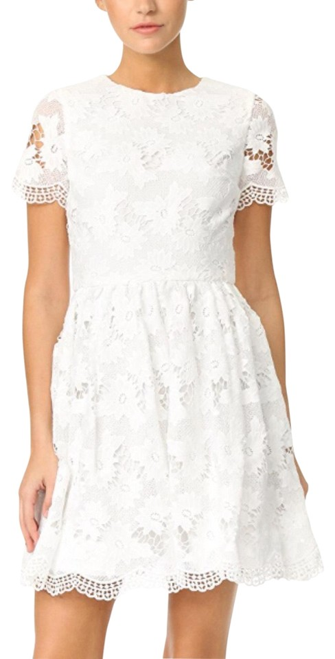 599622224fb3 Alice + Olivia Off White Floral Lace Party Short Cocktail Dress Size ...