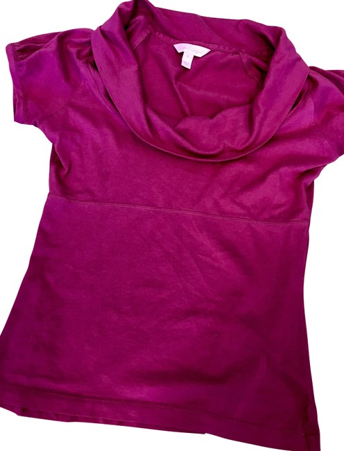 Preload https://img-static.tradesy.com/item/22704042/lilly-pulitzer-pink-cowl-neck-short-sleeve-knit-blouse-size-4-s-0-1-650-650.jpg