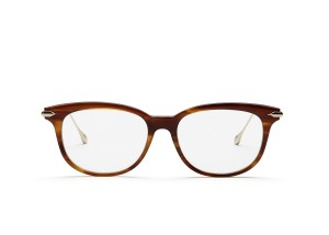 Dita NEW Dita Chic Oversized Brown Gold Metal Eyeglasses Frames