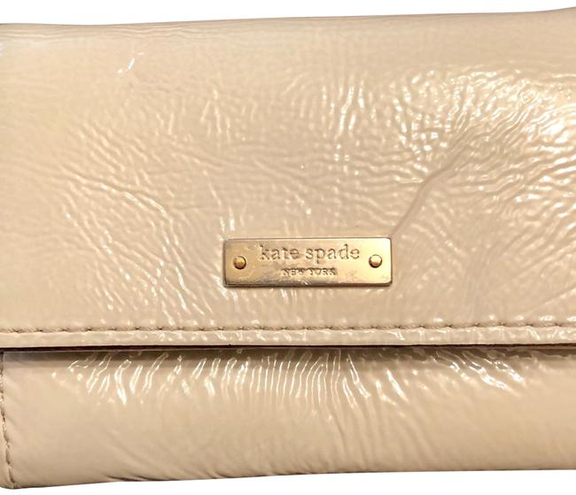 Kate Spade Cream Small Patent Leather Wallet Image 1