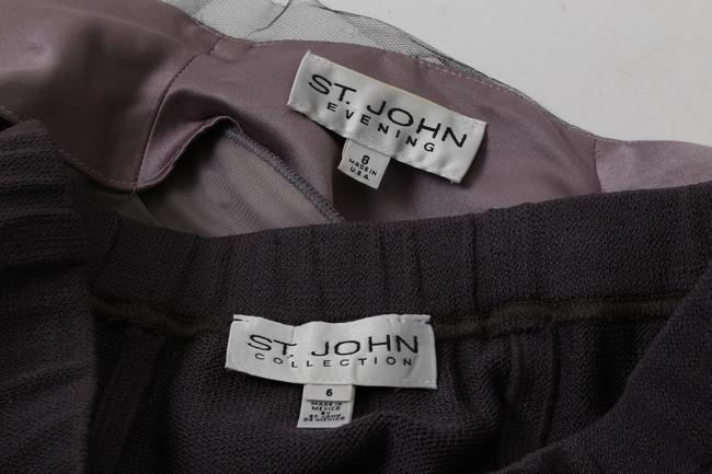 St. John ST. JOHN Purple Skirt Suit