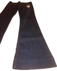 Fade to Blue Wide Leg Jeans Stretchy Super Flare Pants navy blue