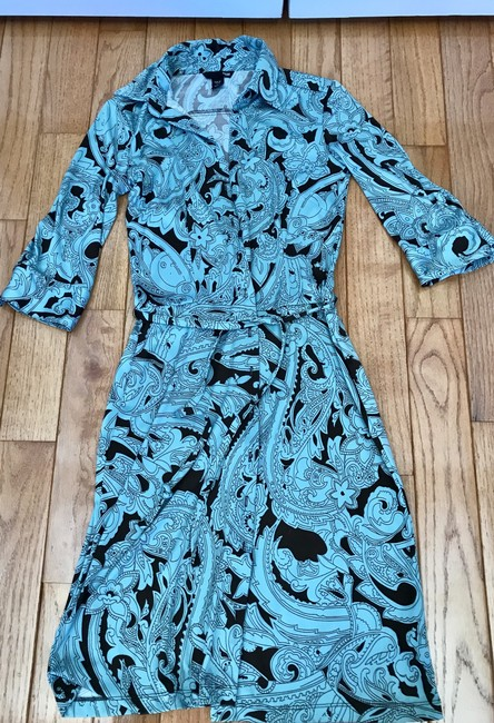 H&M short dress Floral Print Summer Vacation Wrap Size 6 on Tradesy