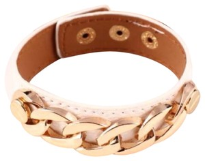 Queenesthershop Women's Chunky Chain Leather Braceler