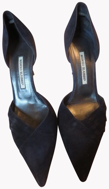 Item - Blue Womens 9.5 Tayler D'orsay Dark Suede Pointy Pumps Size EU 39.5 (Approx. US 9.5) Narrow (Aa, N)