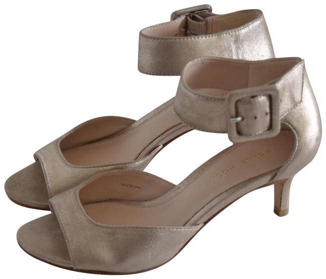Pelle Moda Cream Berlin Kitten Heels Sandals Size US 6 Regular (M, B) Pelle Moda Cream Berlin Kitten Heels Sandals Size US 6 Regular (M, B) Image 1
