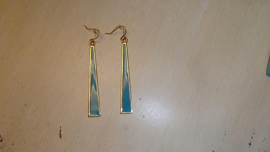 Trina Turk Trina Turk Blue and Gold Drop Enamel Earrings