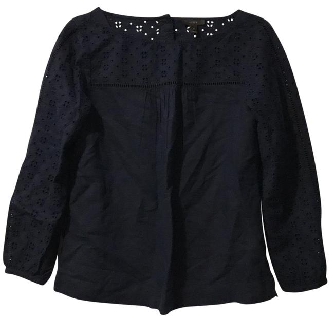Preload https://img-static.tradesy.com/item/22704266/jcrew-navy-blue-g5188-blouse-size-2-xs-0-1-650-650.jpg