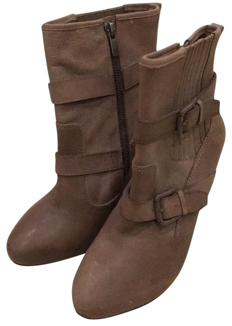 Joie Tan Wedge Boots/Booties Size EU 36.5 (Approx. US 6.5) Regular (M, B) Joie Tan Wedge Boots/Booties Size EU 36.5 (Approx. US 6.5) Regular (M, B) Image 1