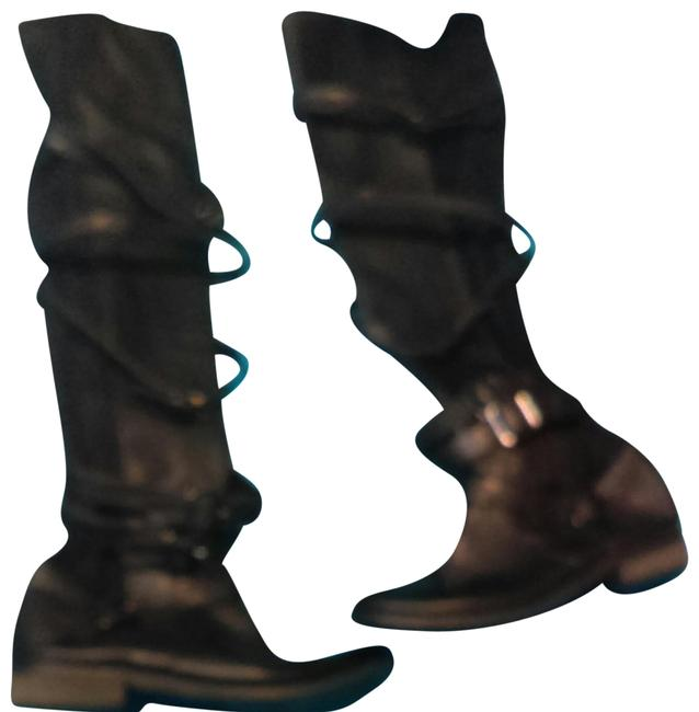 Wanted Black Bayon Knee High Boots/Booties Size US 7 Regular (M, B) Image 1