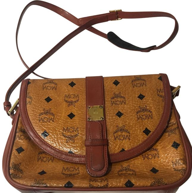 MCM Vintage Purse Brown Bloack Leather Cross Body Bag MCM Vintage Purse Brown Bloack Leather Cross Body Bag Image 1