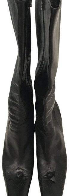 Prada Black Vintage Leather Boots/Booties Size EU 38 (Approx. US 8) Regular (M, B) Prada Black Vintage Leather Boots/Booties Size EU 38 (Approx. US 8) Regular (M, B) Image 1