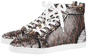 Christian Louboutin Bipbip Sequin Silver Sneakers Multi Athletic