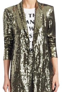 Alice + Olivia And Sequin Sequin Gold Blazer