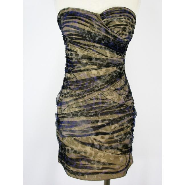 LOVE TEASE Ruched Mesh Dress