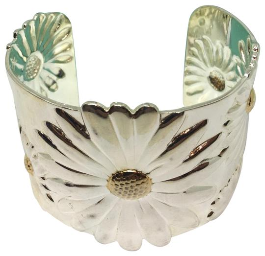 Preload https://img-static.tradesy.com/item/22704783/tiffany-and-co-sterling-silver-and-18k-daisy-cuff-bracelet-0-1-540-540.jpg