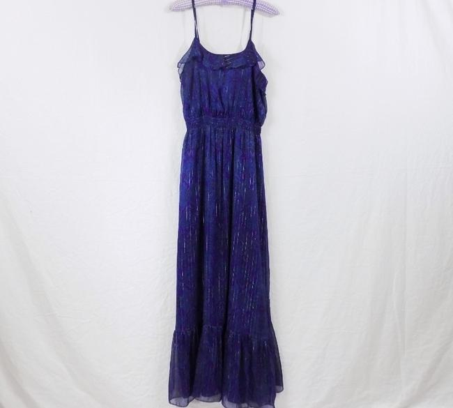 Purple Maxi Dress by Exp Paisley Stripe