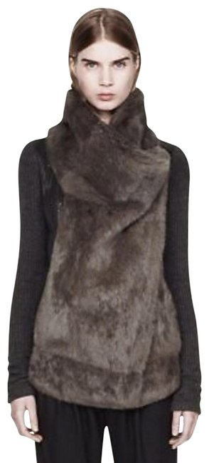 Helmut Lang With Grey Fur -size Small Black Sweater Helmut Lang With Grey Fur -size Small Black Sweater Image 1
