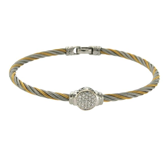 Charriol Philippe 18k Gold & Tow Tone Steel Diamonds Cable Bracelet Charriol Philippe 18k Gold & Tow Tone Steel Diamonds Cable Bracelet Image 1