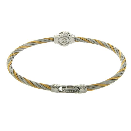 Charriol Philippe Charriol 18k Gold & Tow Tone Steel Diamonds Cable Bracelet