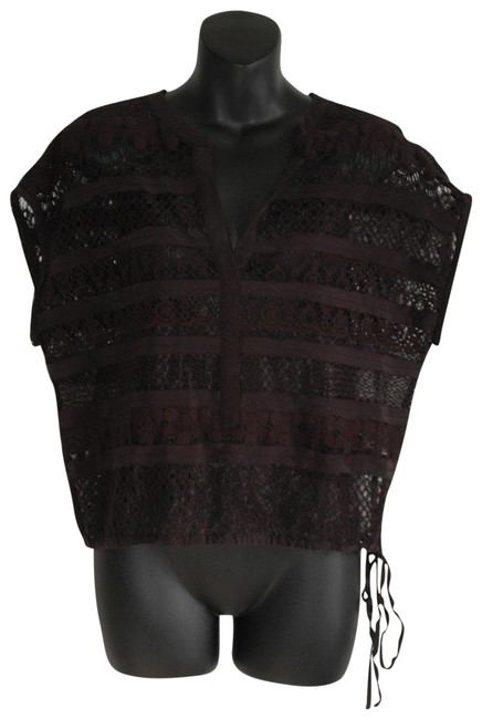 Preload https://img-static.tradesy.com/item/22704895/bcbgmaxazria-black-lace-sheer-boxy-structure-blouse-size-6-s-0-1-650-650.jpg