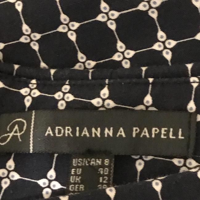 Adrianna Papell Skirt multi navy blue & white designed