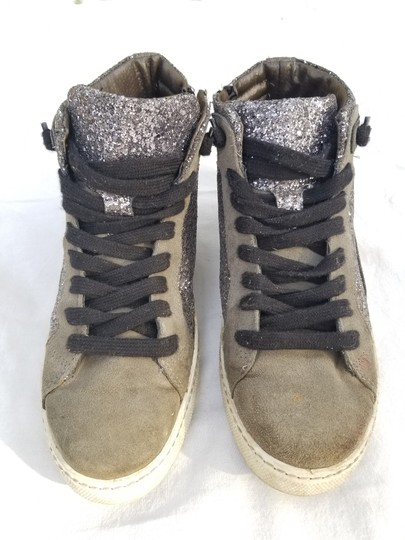 Woz? Hightops Sneakers Glitter Converse Zipper Grey Athletic