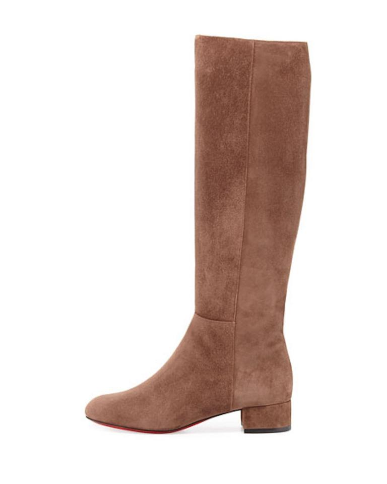 db321c82042 Christian Louboutin Brown Liliboot 30 Chatain Suede Knee High Heel  Boots/Booties Size EU 37.5 (Approx. US 7.5) Regular (M, B) 37% off retail