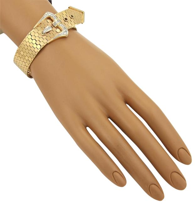 #51932 Diamonds 18k Two Tone Gold Octagon Link Belt & Buckle Bracelet #51932 Diamonds 18k Two Tone Gold Octagon Link Belt & Buckle Bracelet Image 1