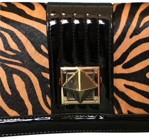 White House | Black Market Black/Brown Tiger print Clutch