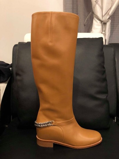 Christian Louboutin Cate Chain Leather Riding tan Boots