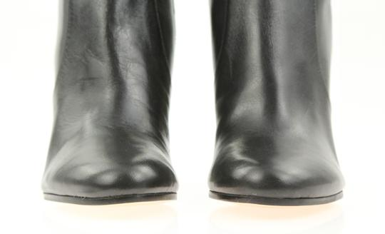 Michael Kors Leather Over The Knee Chain Link Black Boots