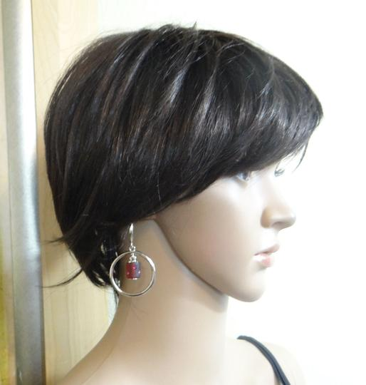 Savvy SAVVY hoop loop rhinestone detail dangling stud earrings NEW W DEFECT
