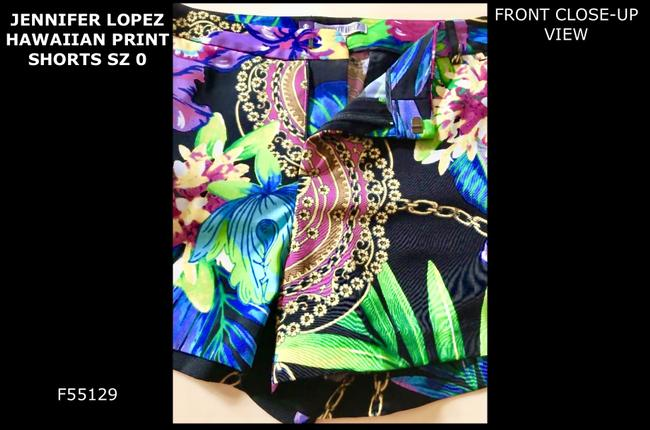 Jennifer Lopez Cuffed Shorts HAWAIIAN BLACK MULTI BRIGHT