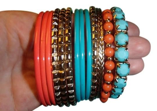 Preload https://item5.tradesy.com/images/orange-blue-gold-13-bangle-and-costume-bracelet-2270524-0-0.jpg?width=440&height=440