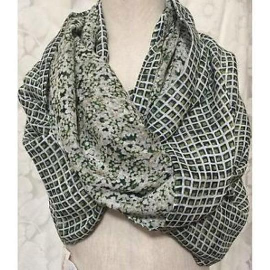 Tory Burch NEW ETHEL Eternity Scarf Queen Annes Lace Scarf Wraps Green