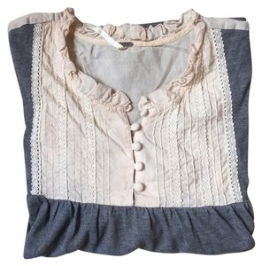 Free People short dress grey Knit Woven on Tradesy