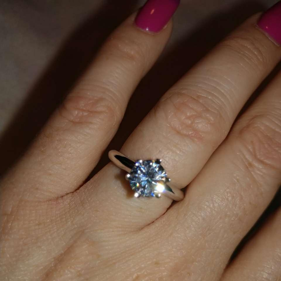 Colorless 1 90 Carat Forever One Moissanite Solitaire Ring 62% off retail
